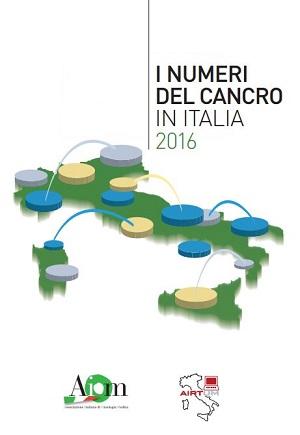 copertina volume I numeri del cancro in Italia 2016